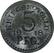 5 pfennig - Rudolstadt – revers