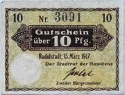 10 Pfennig (Rudolstadt) – avers