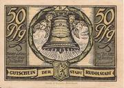 50 Pfennig (Rudolstadt) – avers