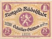 75 Pfennig (Rudolstadt) – avers