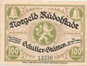 100 Pfennig (Rudolstadt) – avers