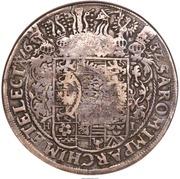 "Jefimok Rouble - Alexey Mikhailovich (Countermarked over ""Saxony Taler of Johann Georg I 1632"") – revers"