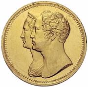 10 Roubles - Nikolai I (10ème anniversaire de couronnement ; Essai ; Novodel) – avers