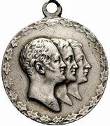 Medal - Nicholas II (100 years of the Battle of Leipzig) – avers