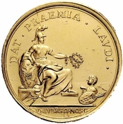 Medal - Elizabeth (Prize to students of Moscow University) – revers