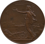 Médaille - Nicholas II (100th Anniversary of the Ministry of Finance) – revers