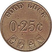 Casino Token - Good Luck (25 ¢) – revers