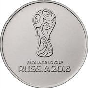25 Roubles (Coupe du monde de football Russie 2018) -  revers
