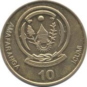 10 Francs (BANKI NKURU Y'U RWANDA) – avers