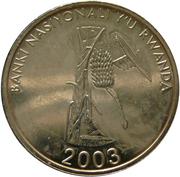 10 francs (BANKI NASIYONALI Y'U RWANDA) – avers