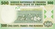 500 Francs 2004 – revers