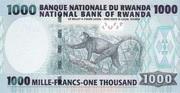 1000 Francs 2004 – revers