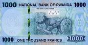 1000 Francs – revers