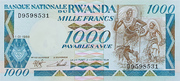 1000 Francs Type 1988 – avers