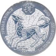 50 francs (Année du chien) -  revers