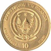 10 francs (Année du rat) – avers