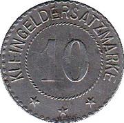 10 pfennig - Saalfeld an der Saale – revers