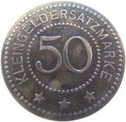 50 pfennig - Saalfeld an der Saale – revers