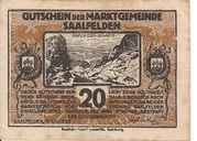 20 Heller (Saalfelden) – avers