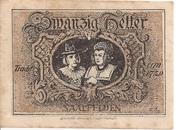 20 Heller (Saalfelden) – revers