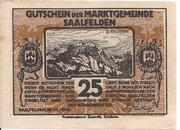 25 Heller (Saalfelden) – avers