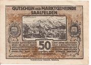 50 Heller (Saalfelden) – avers