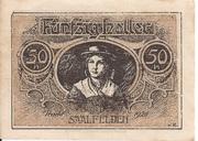 50 Heller (Saalfelden) – revers
