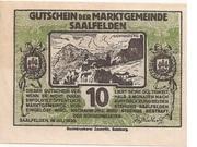 10 Heller (Saalfelden) – avers