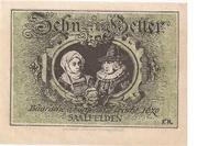 10 Heller (Saalfelden) – revers