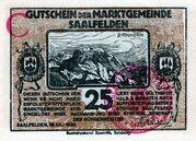 25 Heller (Saalfelden; Brown handstamped issue) – avers