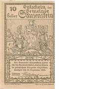 10 Heller (Säusenstein) – revers
