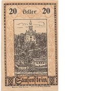 20 Heller (Säusenstein) – avers
