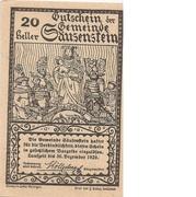 20 Heller (Säusenstein) – revers