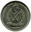 2 pesetas – avers