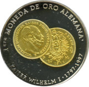 500 Pesetas (Monnaie allemande en or) – revers