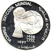 1000 Pesetas (Coupe du monde de football France 1998) – revers