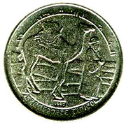 1 peseta – revers
