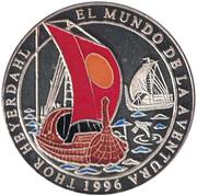 1000 Pesetas (Thor Heyerdahl) – revers
