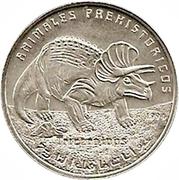 100 pesetas (Tricératops) – revers