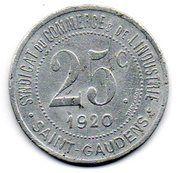 25 centimes - Syndicat du Commerce - Saint Gaudens [31] – revers