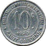 10 Centimes - Syndicat du Commerce et de l'Industrie - Saint Gaudens [31] – revers