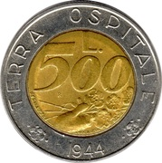 500 lires -  revers