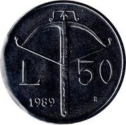 50 lires (Histoire) – revers