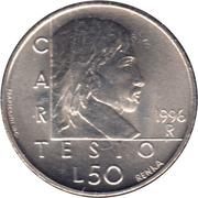 50 lires (Descartes) – revers