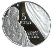 5 euros Giovanni Bellini -  revers