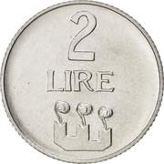 2 lires – revers