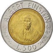 500 Lires (Albert Einstein) -  revers
