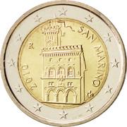 2 euros (1er type, 2e carte) -  avers