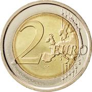 2 euros (1er type, 2e carte) -  revers