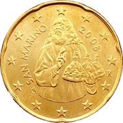 20 cents d'euro (1er type, 2e carte) -  avers